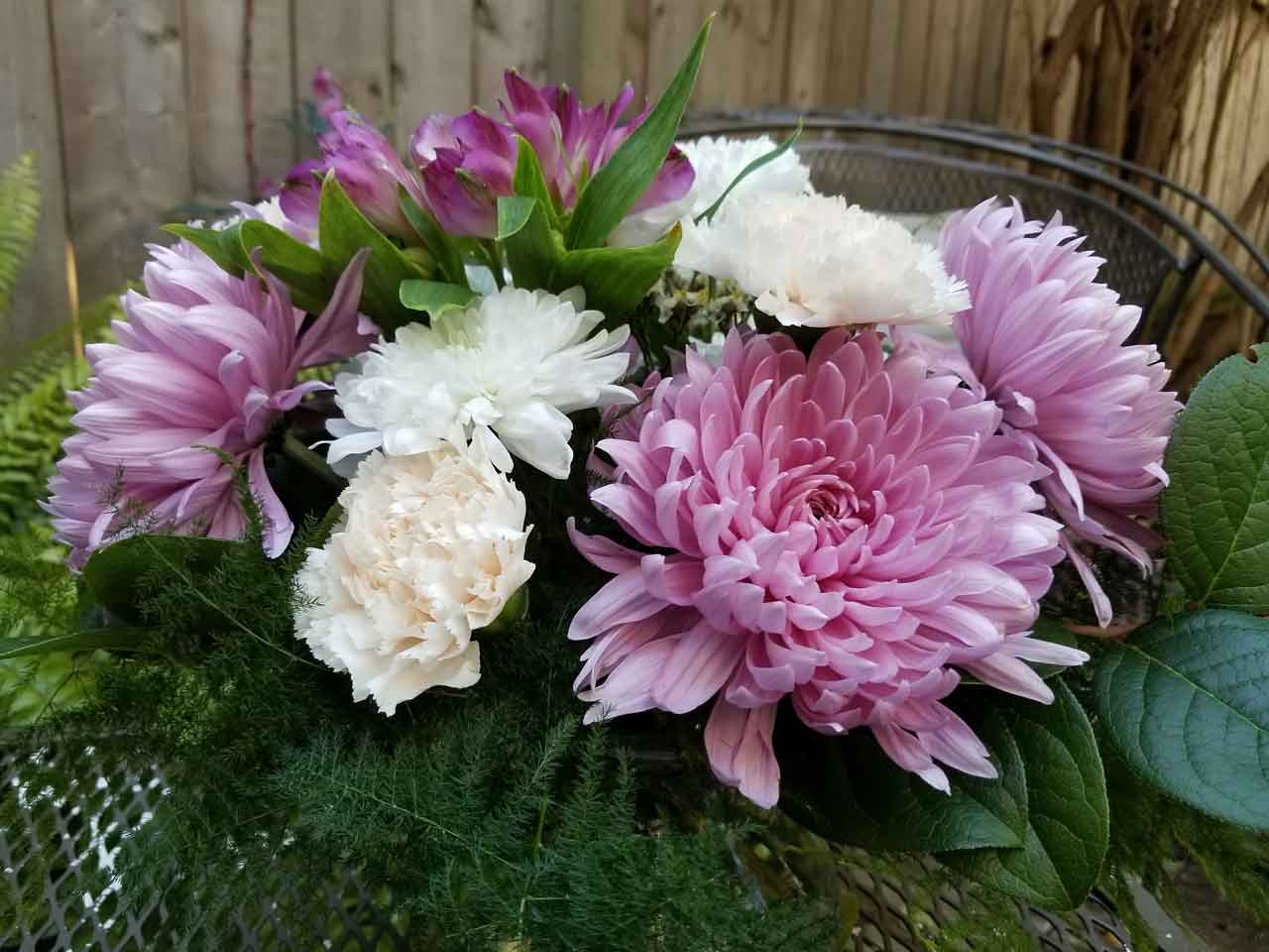 The Delicate Flower Floral Pink And Purple Arrangement