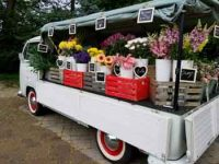 The Delicate Flower Posy Wagon With Flowers For Sale