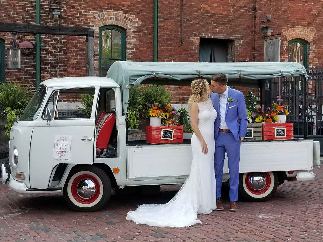 The Delicate Flower Truck Wedding Photo