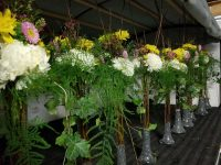 Floral Arrangements in Truck