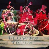 Corporate Bags in Flower Truck crate